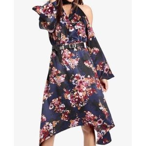 NWT Lucky Brand Cold Shoulder Floral Dress Size M